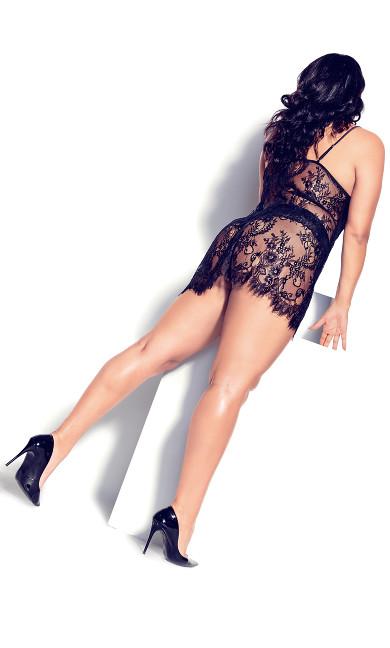 Eva Lace Chemise - black