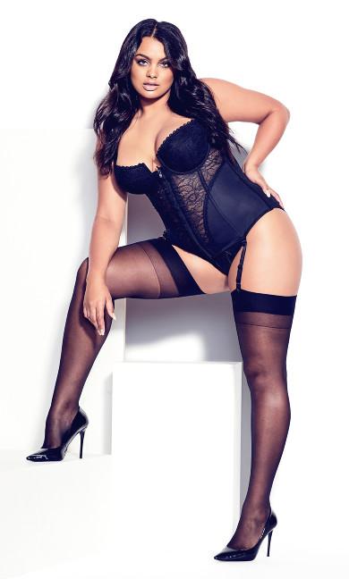 Suzette Zip Bustier - black