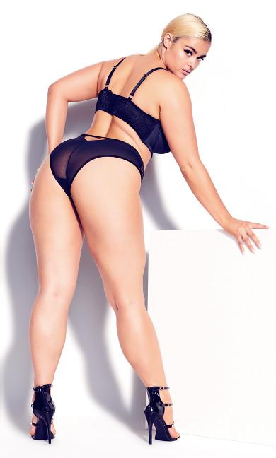 Lucinda Plunge Bra - black