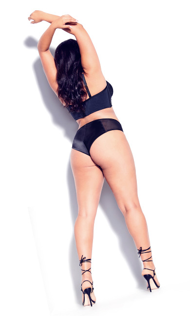 Adrianna Longline Underwire Bra - black