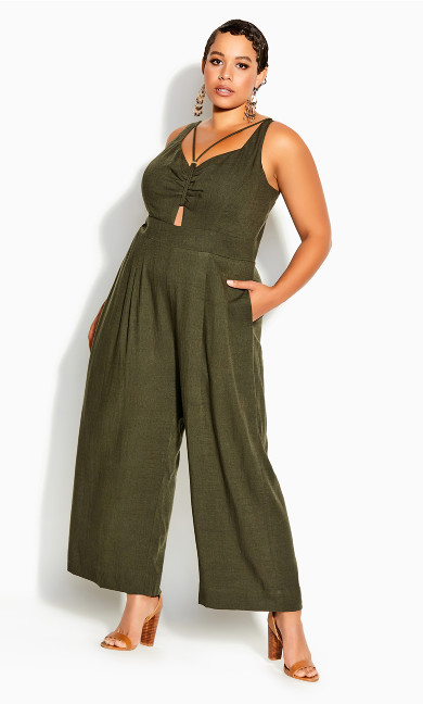 Plus Size Paradise Jumpsuit - fern