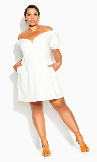 Plus Size Sweet Paradise Dress - ivory