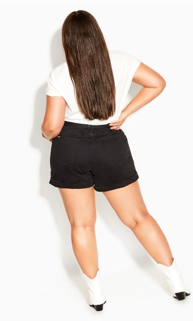 Waist N Belt Shorts - black