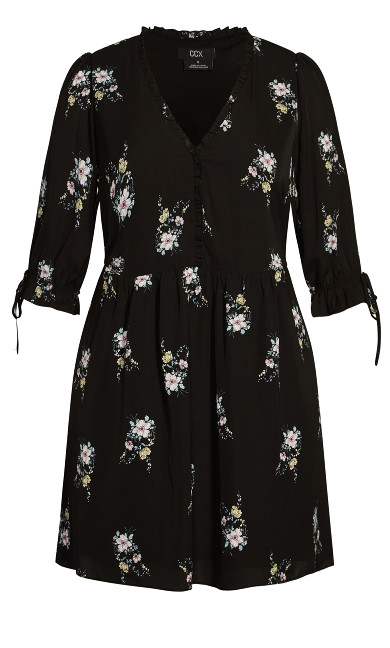 Sweet Posy Dress - black