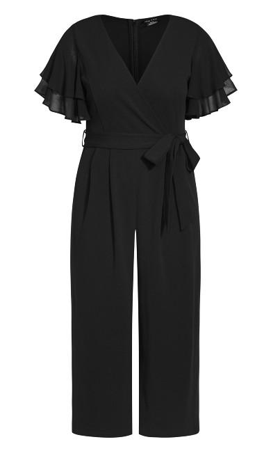 Flutter Sleeve Jumpsuit - black