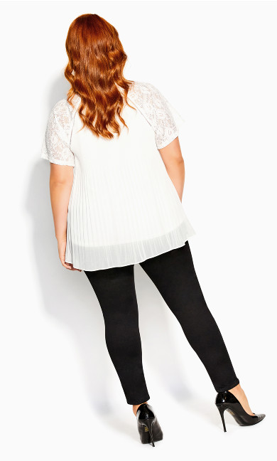 Lace Cherish Top - ivory