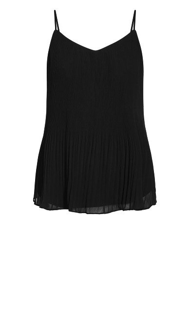 Pleated Swing Top - black