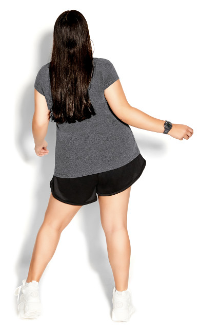 Double Trouble Top - charcoal