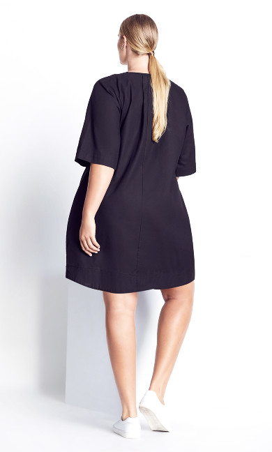 Simple Lines Dress - black