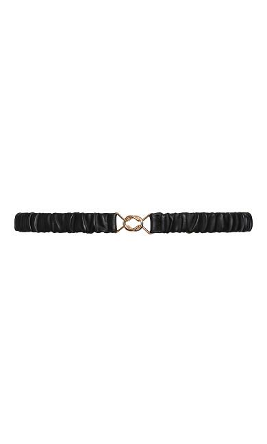 All Ruched Belt - black