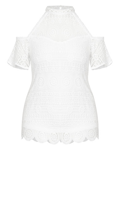 Lace Magic Top - ivory