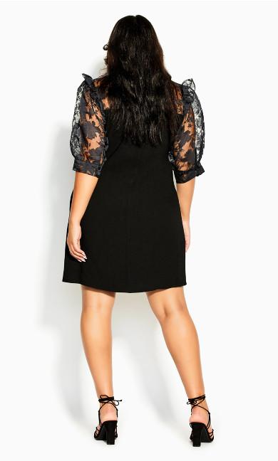 Sweet Organza Dress - black