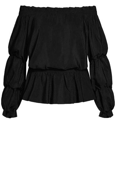 Dashing Sleeve Top - black