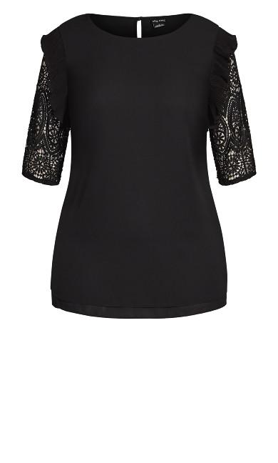 Lace Breeze Top - black
