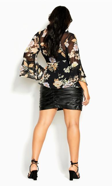 Aria Flutter Top - black
