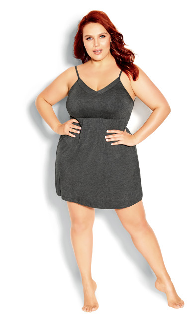 Carrie Chemise - charcoal