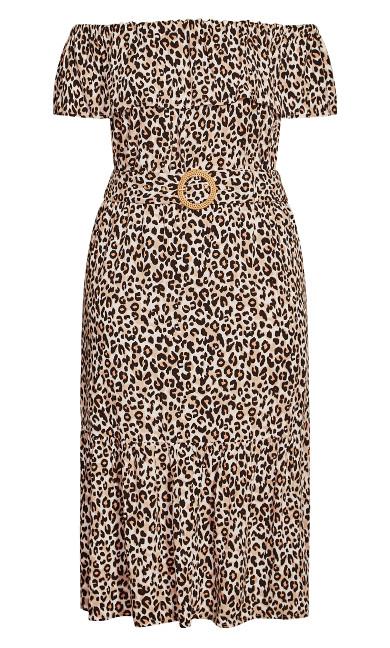 Safari Midi Dress - leopard