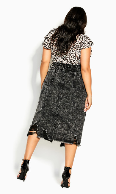 Sky High Skirt - black wash