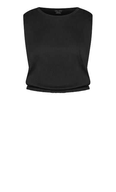 Bold Shoulder Top - black