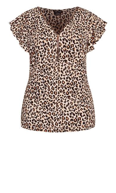 Zip Prowess Top - leopard