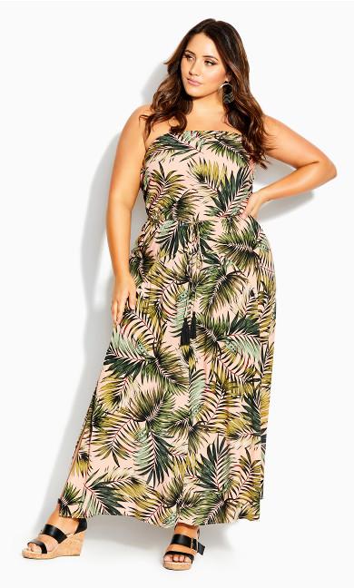 Miami Palm Maxi Dress