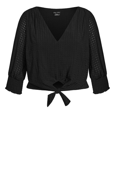 Tie Picnic Top - black