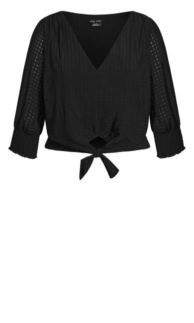 Tie Picnic Top - black