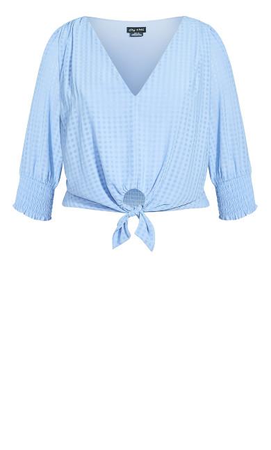 Tie Picnic Top - sky blue