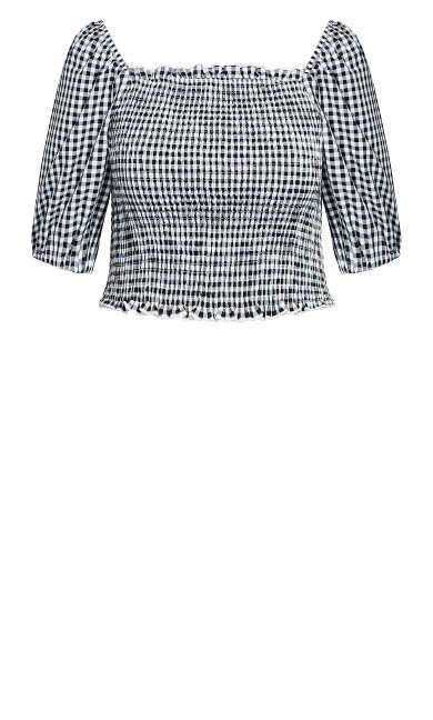 Crop Gingham Top - gingham
