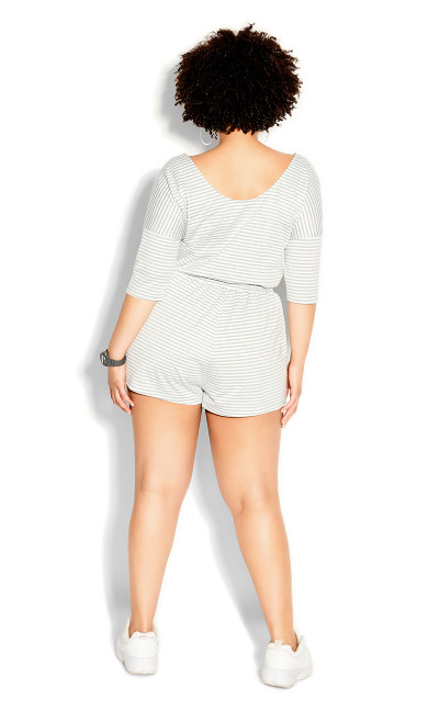 Stripe Daze Playsuit - grey stripe