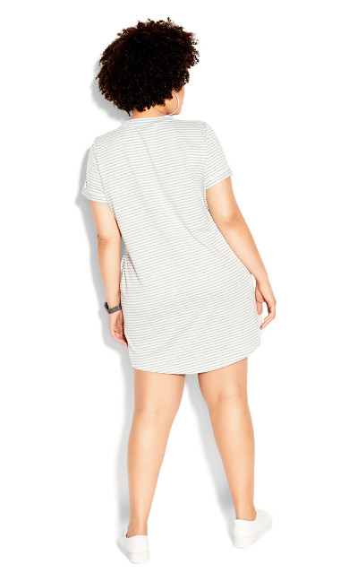 Stripe Lounge Dress - grey