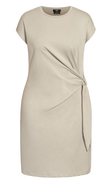 Easy Side Tie Dress - khaki