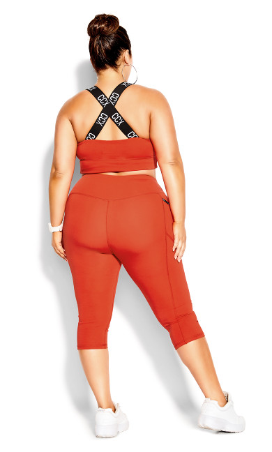 Active 3/4 Legging - chilli