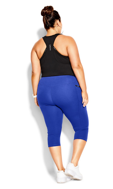 Active 3/4 Legging - royal blue