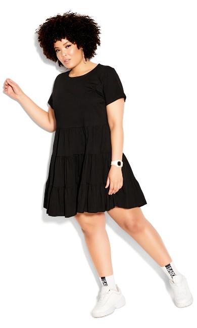 Sweet Tier Dress - black