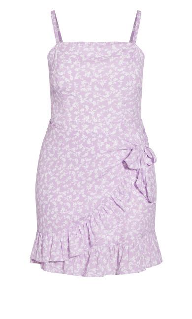 Floating Daisy Dress - lilac