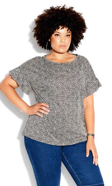Micro Animal Top - black