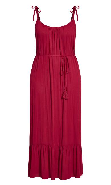 Tropical Escape Maxi Dress - rhubarb