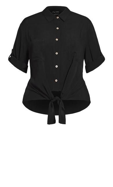 Tropical Tie Top - black