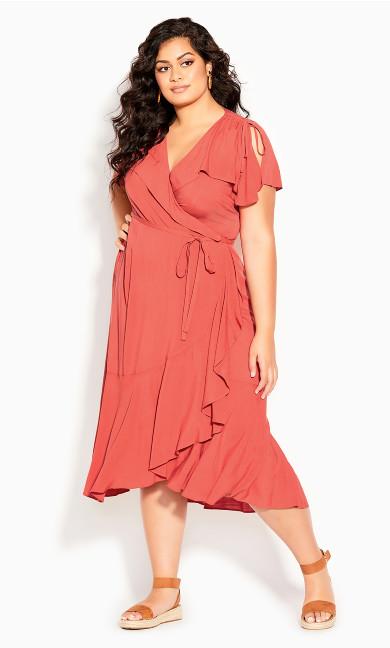 Palm Love Maxi Dress - tangerine