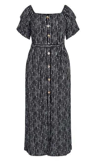 Deep Sea Maxi Dress - black