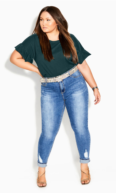 Spirit Sleeve Top - emerald