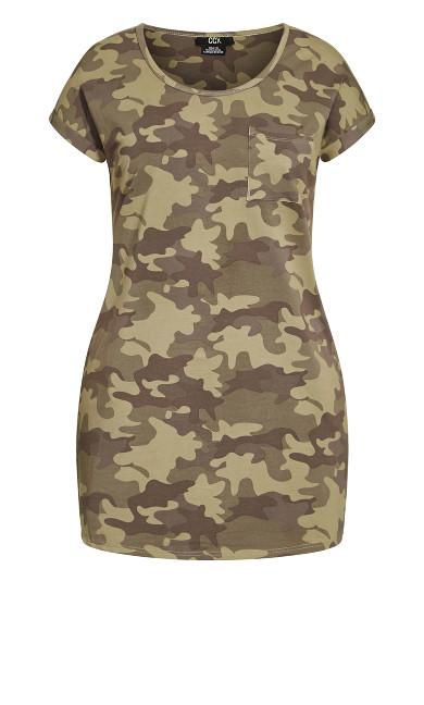 Camo Days Dress - khaki