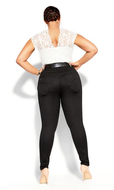 Harley Skinny Petite Black Jean - black