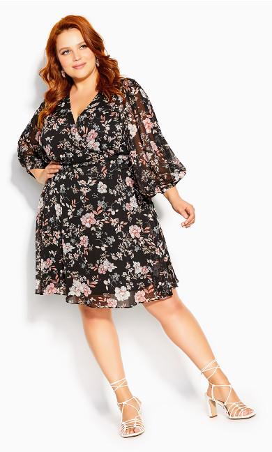 Imperial Bloom Dress - black