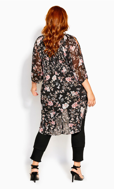 Imperial Floral Top - black