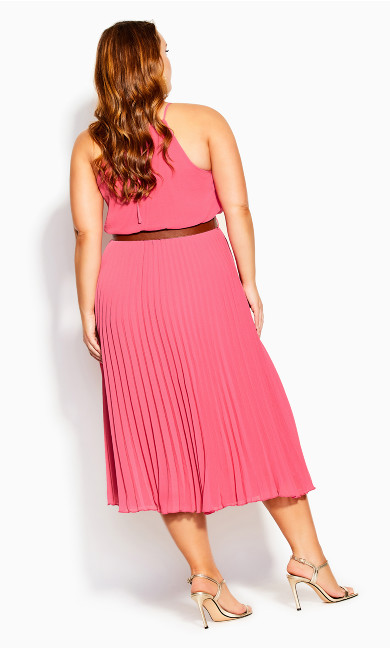 Halter Pleat Dress - sugar