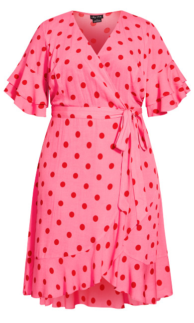 Flutter Spot Dress - red spot