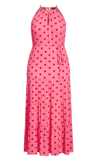 Party Spot Maxi Dress - sugar pink