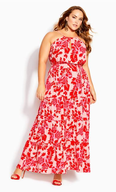 Scarlet Floral Maxi Dress - pink floral
